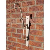 Large Metal Ornate Cream Wall Bracket for Hanging Basket