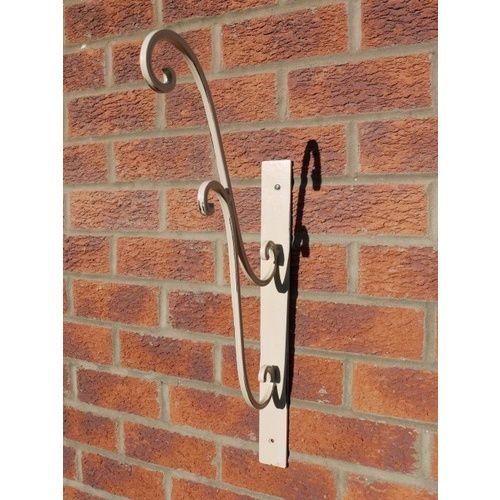 Large Metal Ornate Cream Wall Bracket for Hanging Basket
