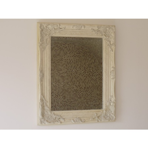 Small White Shabby Chic Gilded Indoor Wall Mirror