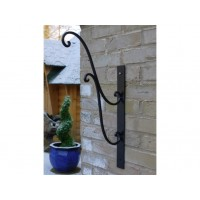 Black Wall Bracket For Small Vintage Style Hanging Basket