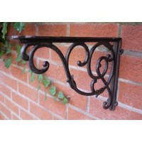 Large Black Ornate Style Bracket For Hanging Basket