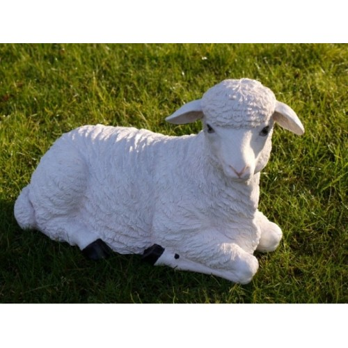 Sheep/Lamb Laying Down Garden Ornament Statue