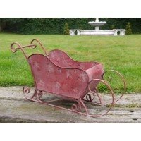 Indoor Or Outdoor Red Christmas Sleigh