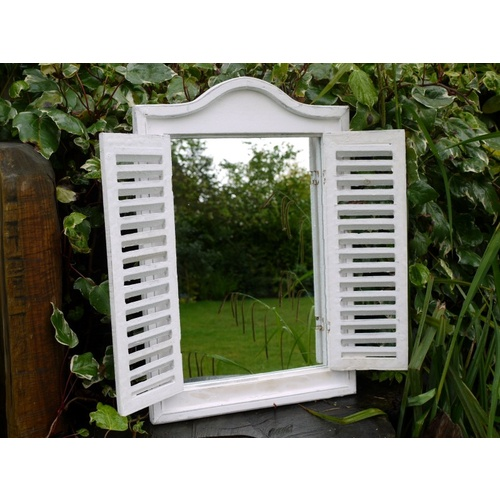 French Shabby Chic Vintage Style Shutter Door Mirror