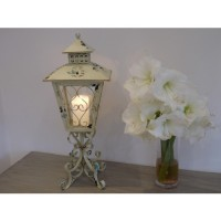 Cream Antique Design Shabby Chic Candle Holder Lantern