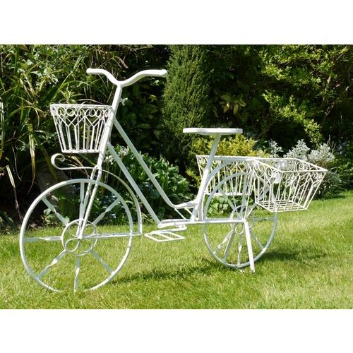 White Lottie Garden Bicycle Shabby Chic Planter