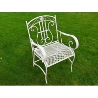 White Antique Style Foldable Sarah Garden Armchair