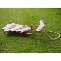 Christmas Tree Shaped Red Garden Sleigh