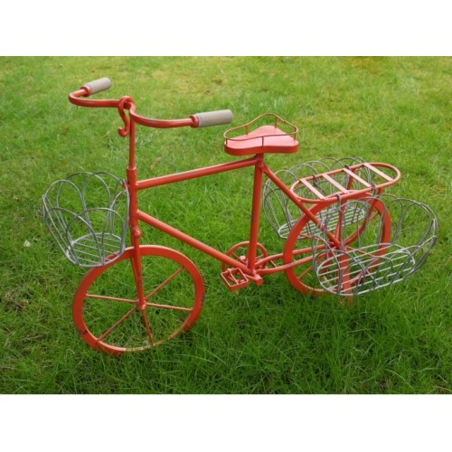 Red Lottie Garden Bicycle Shabby Chic Planter