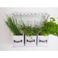 Wooden Vintage Country Style Wall Herb Planter