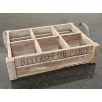 Bistrot De Paris 6 Slot Wooden Crate Box