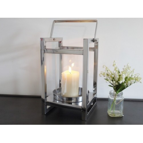 Stainless Steel Candle Holder With Swivel Handle