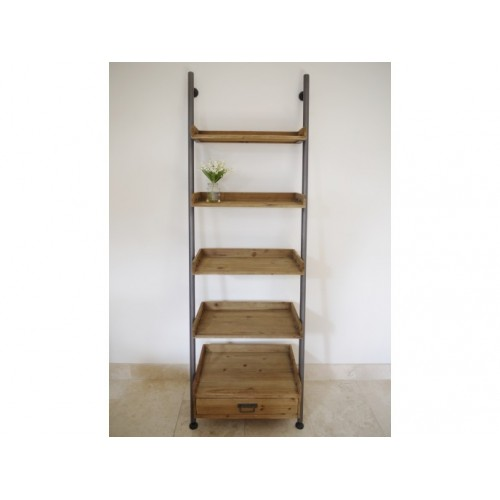 Small 5 Tier Ladder Style Storage Shelves