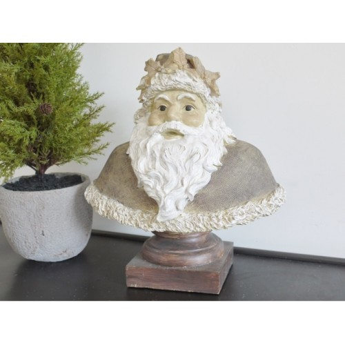 Fabulous Christmas Santa Bust Ornament