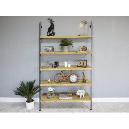 Heavy-duty Ladder Style Five Shelves Bookcase