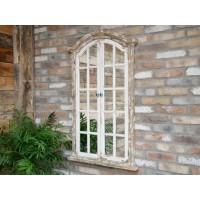 White Shabby Chic Rustic Mirror Garden Mirror