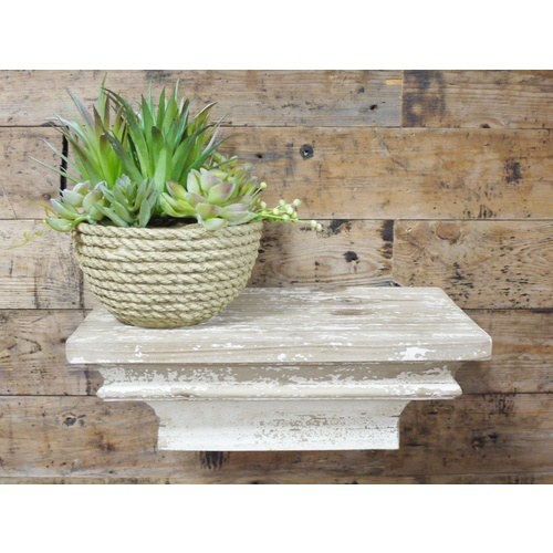 White Distressed Shabby Chic Wall Floating Small Shelf