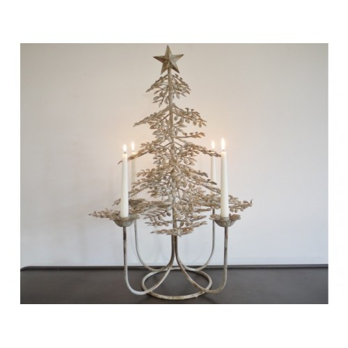 Christmas Tree Four Candle Holder Ornament