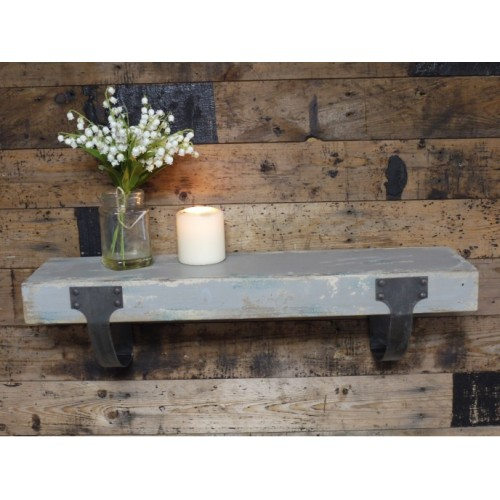 Distressed Rustic Shabby Chic Wall Floating Shelf