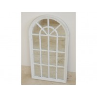 White Country Style Wall Arch Living Room Mirror