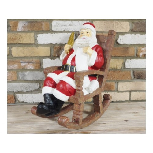 Terrific Santa Sitting In A Rocking Chair Holding Christmas Tree Pdpeps Interior Chair Design Pdpepsorg