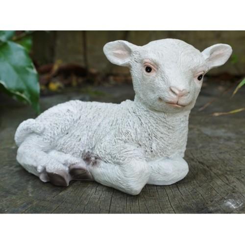 Little Lamb Lying Down Garden Ornament