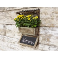Wall Herb Planter Complete With Chalkboard