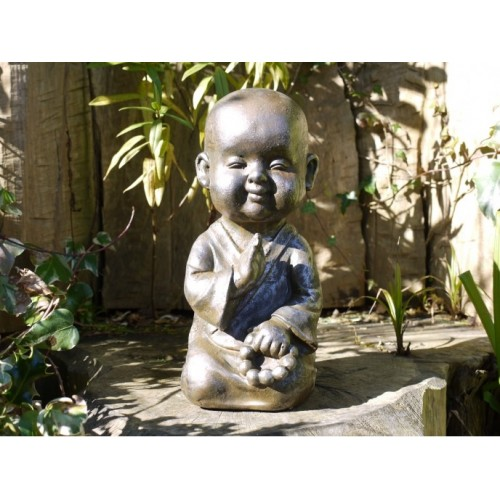 Young Baby Faced Monk Home Or Garden Statue