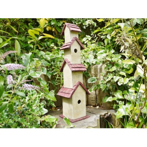 Rustic Four Level Garden Bird House