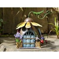 Sunflower Fairy House Outdoor Garden Ornament
