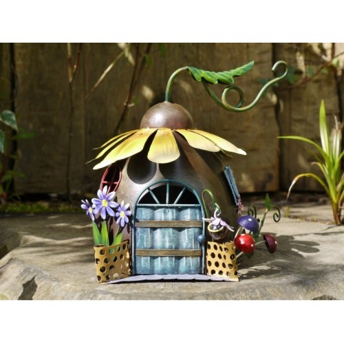 Sunflower Fairy House Outdoor Garden Ornament