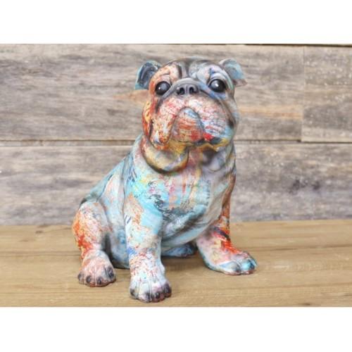 Multi-Colour Sitting English Bulldog Ornament