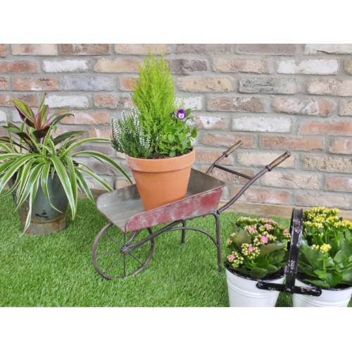 Decorative Garden Wheel Barrow Planter