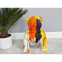 Medium Colourful Bulldog Garden Statue Ornament