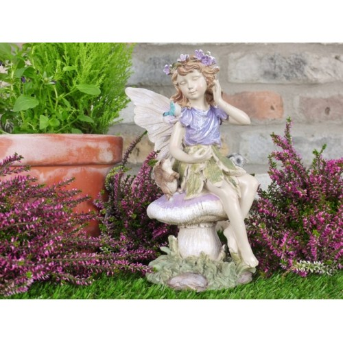 Garden Fairy Sitting On A Stool Garden Ornament