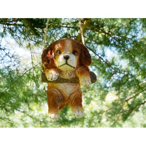 Medium Hanging Dog Outdoor Resin Ornament
