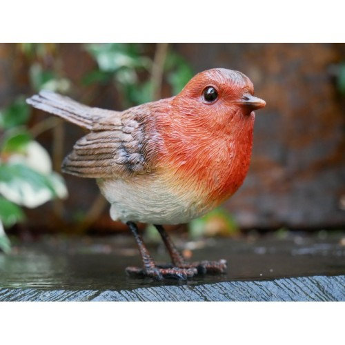 Christmas Robin Redbreast Bird Garden Ornament